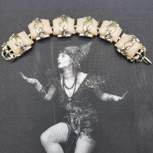 Vintage chunky taupe thermoset bracelet